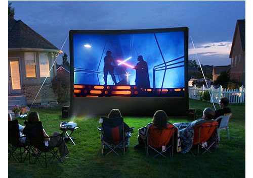 Outdoor Movie Theater Package ? Jump Party Texas