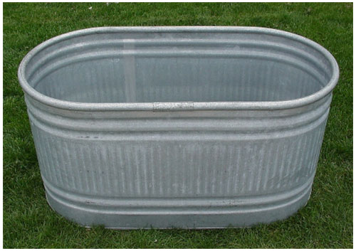 Galvanized Drink Trough Tub Jump Party Texas
